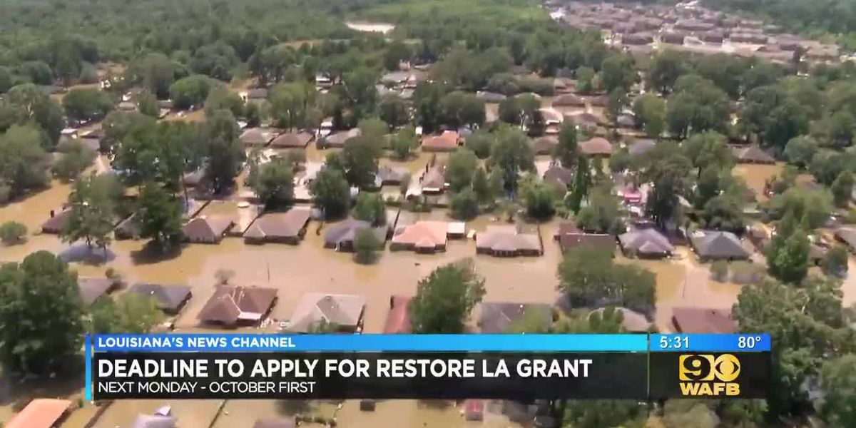 WAFB - Deadline nears for applications for Louisiana flooding aid