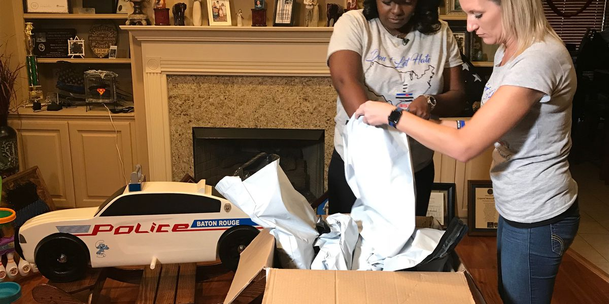'Don't let hate infect your heart': Fallen BRPD officer's wife honors husband with t-shirts