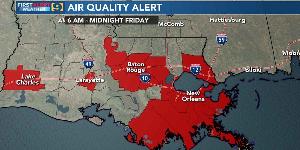 FIRST ALERT FORECAST: Limit outdoor activities due to Saharan Dust
