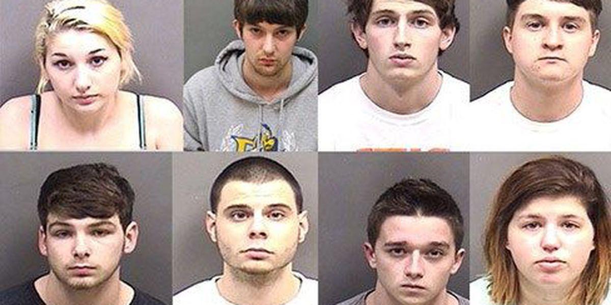 Seven arrested, one at large after 3-day drug distribution investigation