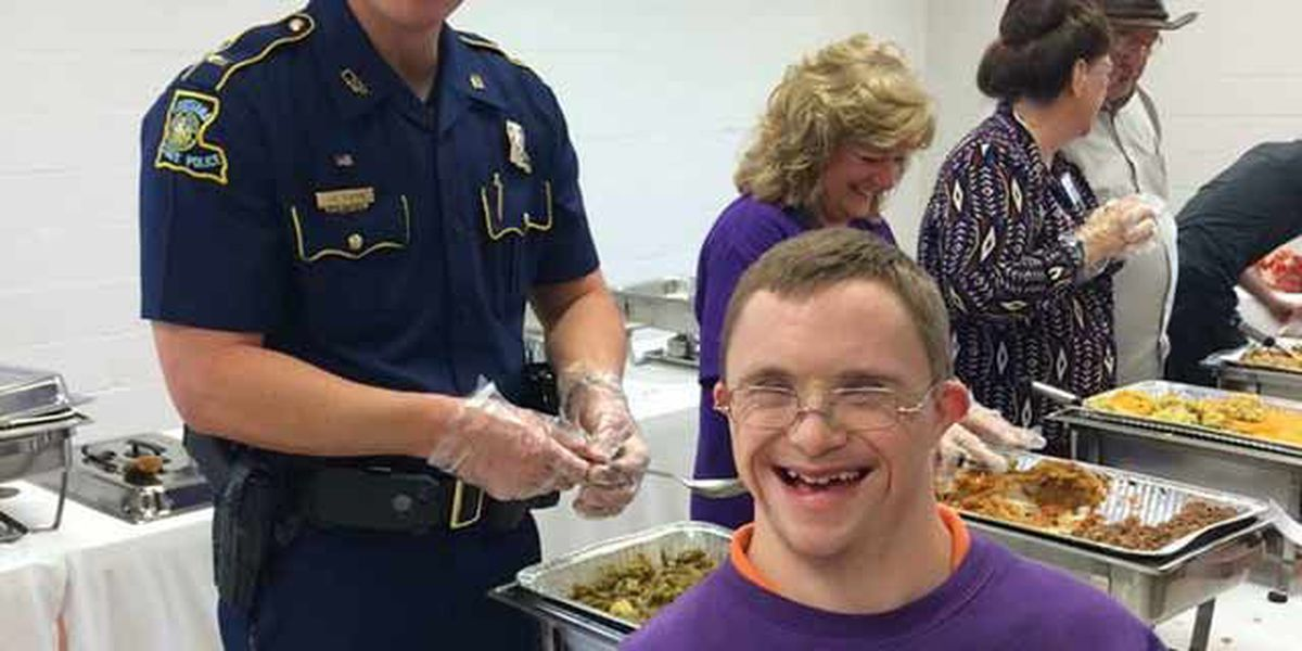 Louisiana State Troopers attend Families Helping Families Thanksgiving luncheon