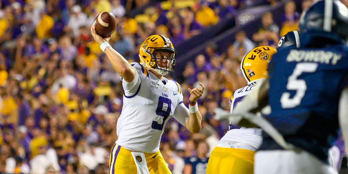 Burrow throws for 5 TDs, No. 6 LSU beats Ga. Southern 55-3