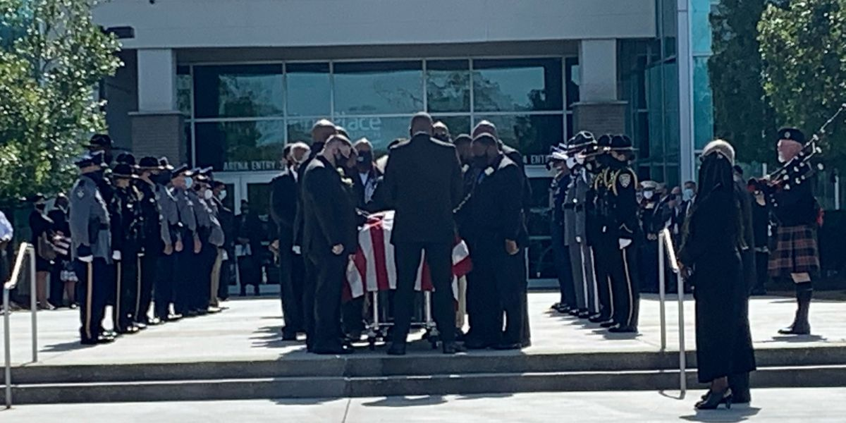Funeral held for BRPD officer who died from complications of COVID-19
