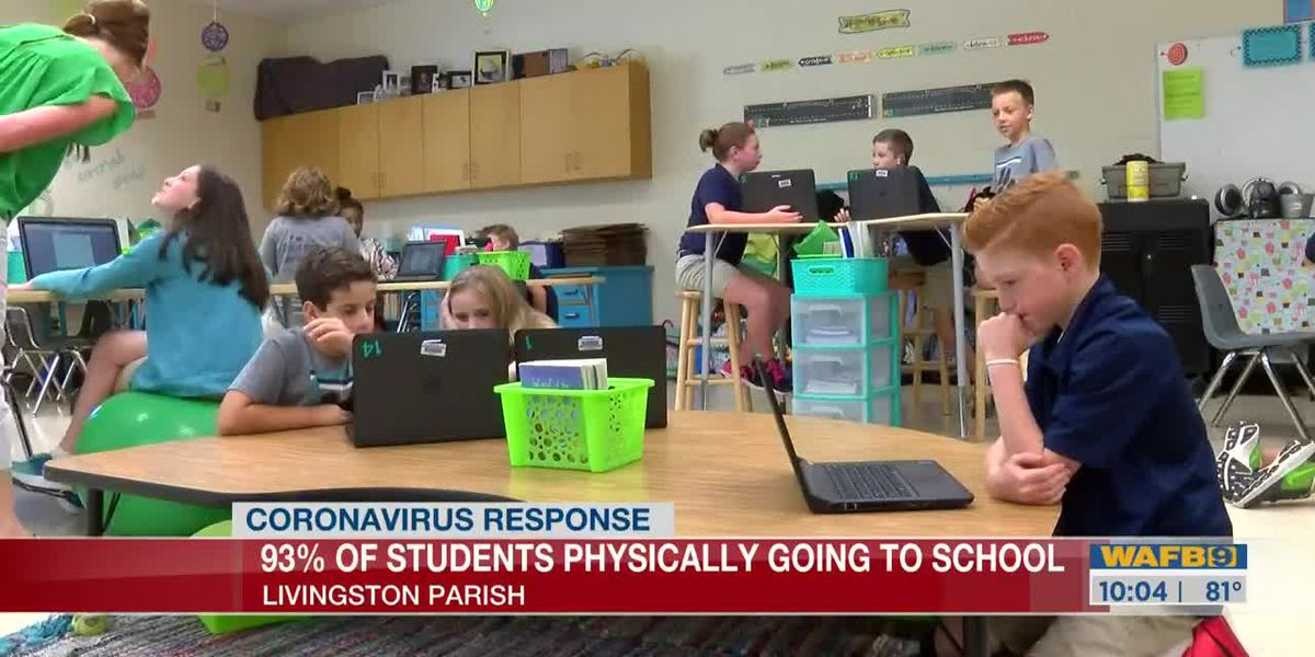Livingston Parish Public Schools says 93% of its students will attend classes in-person