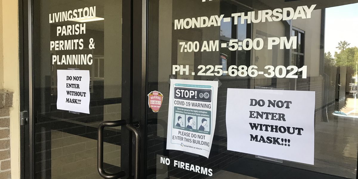 Livingston Parish government offices reopen with restrictions, providing some form of normalcy