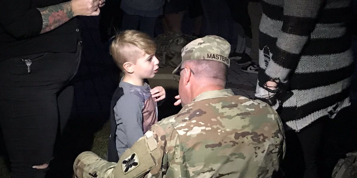 2,000 La. guardsmen say farewell to loved ones as they prepare to head to the Middle East