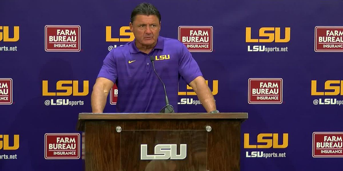 LSU head coach Ed Orgeron breaks down Preseason Game 2