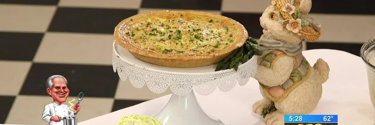 Stirrin' It Up: Asparagus Quiche with Crabmeat and Bacon (April 18, 2019)