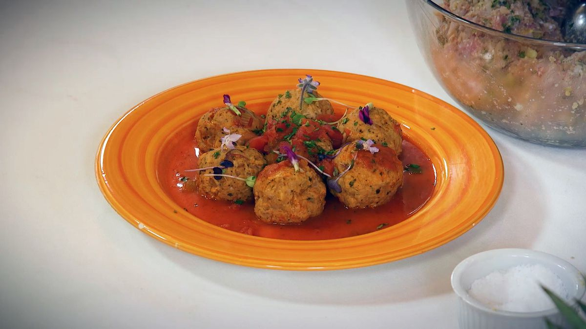 Gator Boulettes in Spicy Creole Sauce