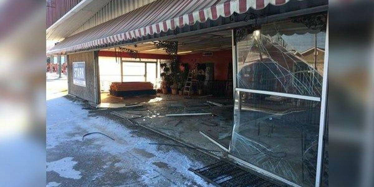 Storefront of Denham Springs business damaged in hit and run crash