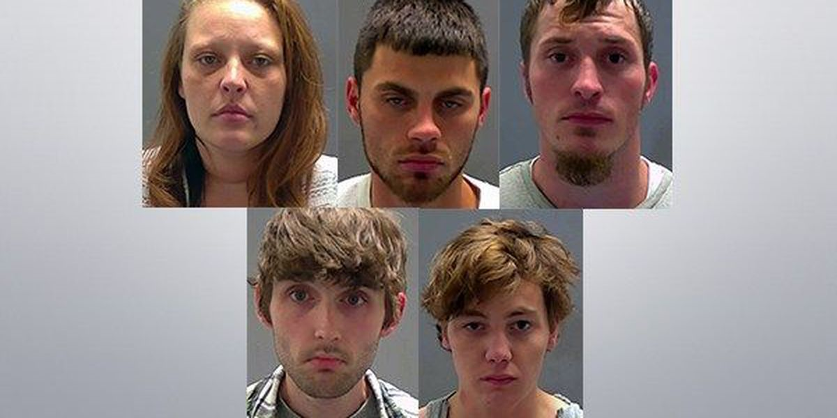 Five people arrested on drug, weapon charges after vehicle reported stolen
