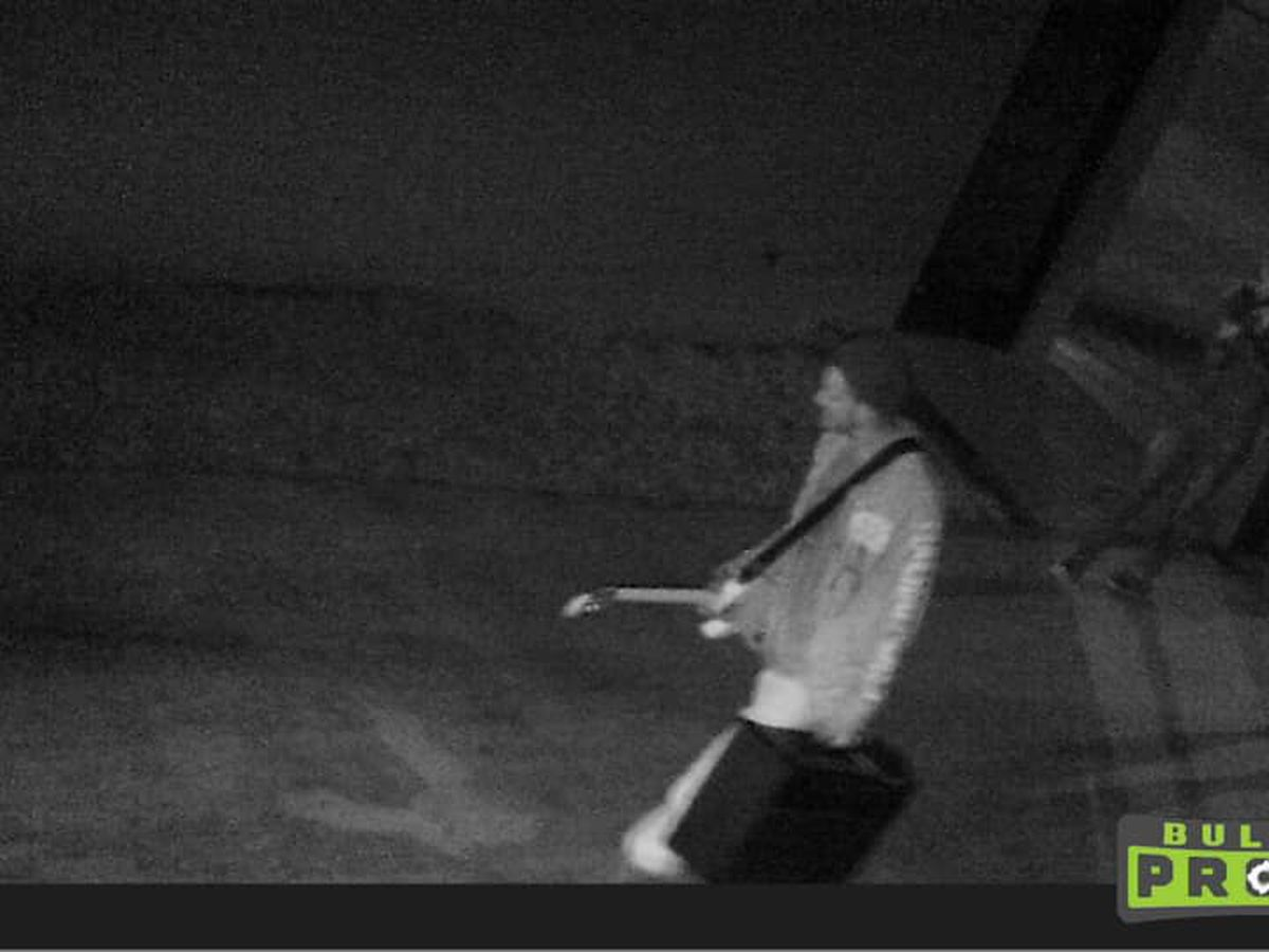 Surveillance footage shows people suspected of stealing from a church