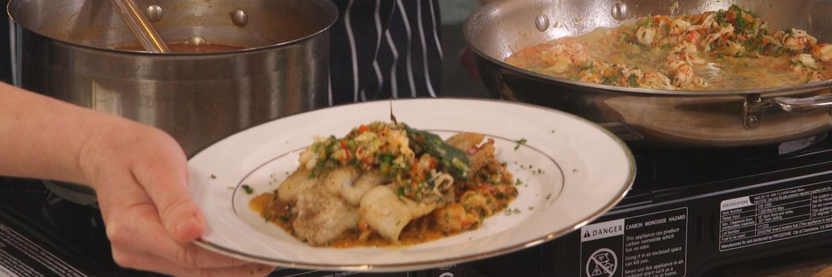 Fillet of Sole with Crawfish in Sauce Sauternes
