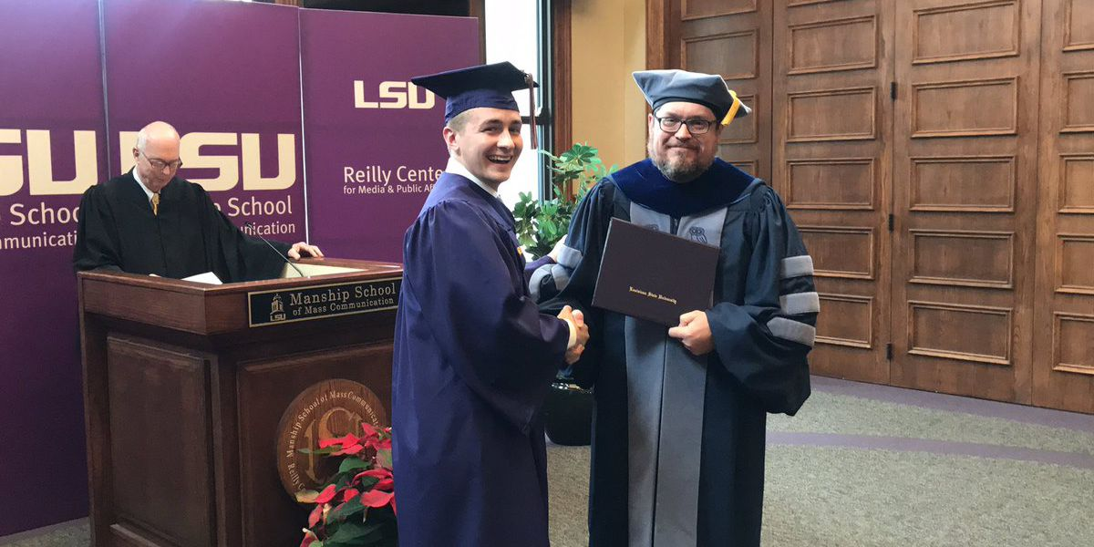 LSU's Manship School corrects commencement mishap with exclusive ceremony for graduate