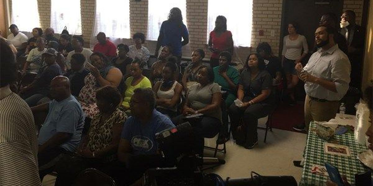 Community members attend town hall following shooting death of Alton Sterling