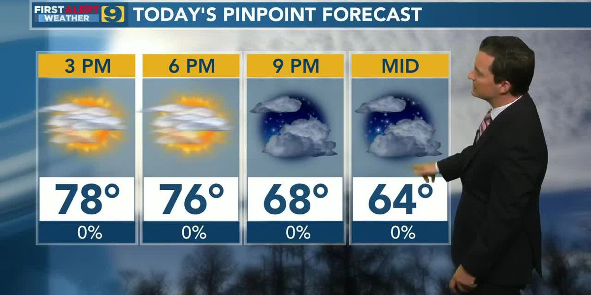 FIRST ALERT 12 P.M. FORECAST: Thursday, April 2