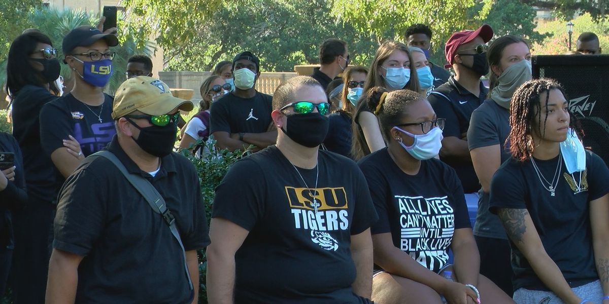 LSU, SU come together for 'Enough is Enough: Rally for Unity'