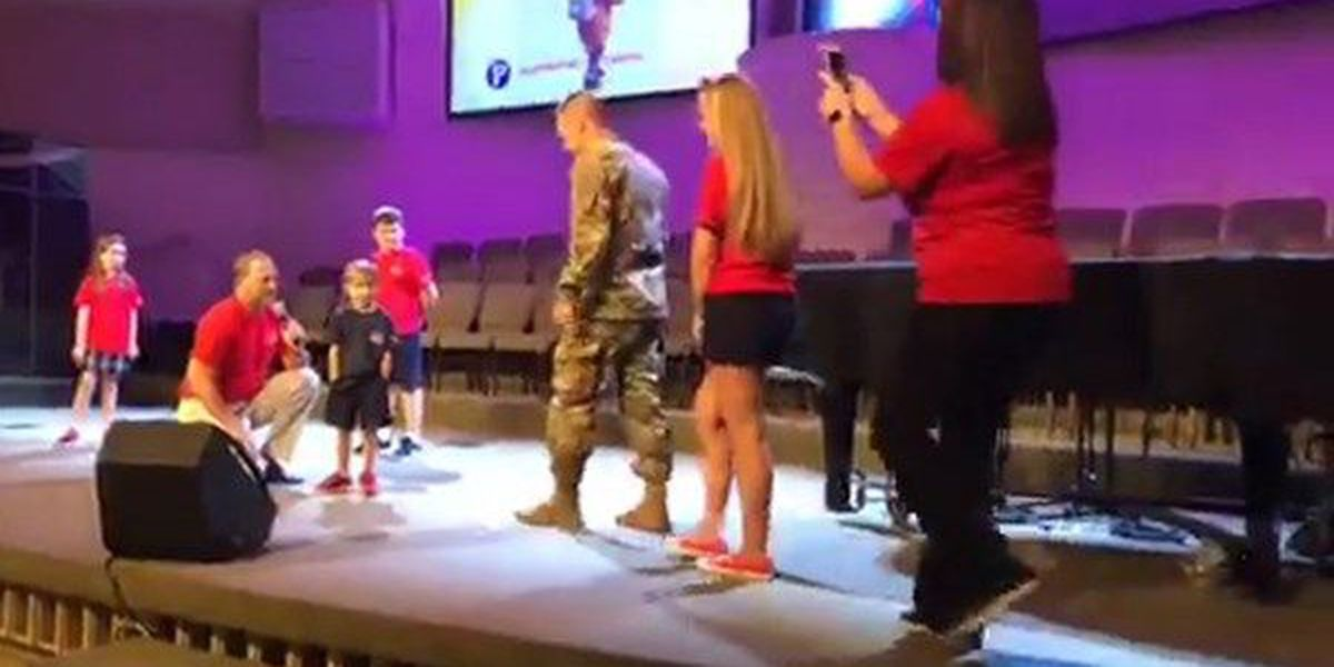 GOOD NEWS: Military dad surprises son at school after deployment