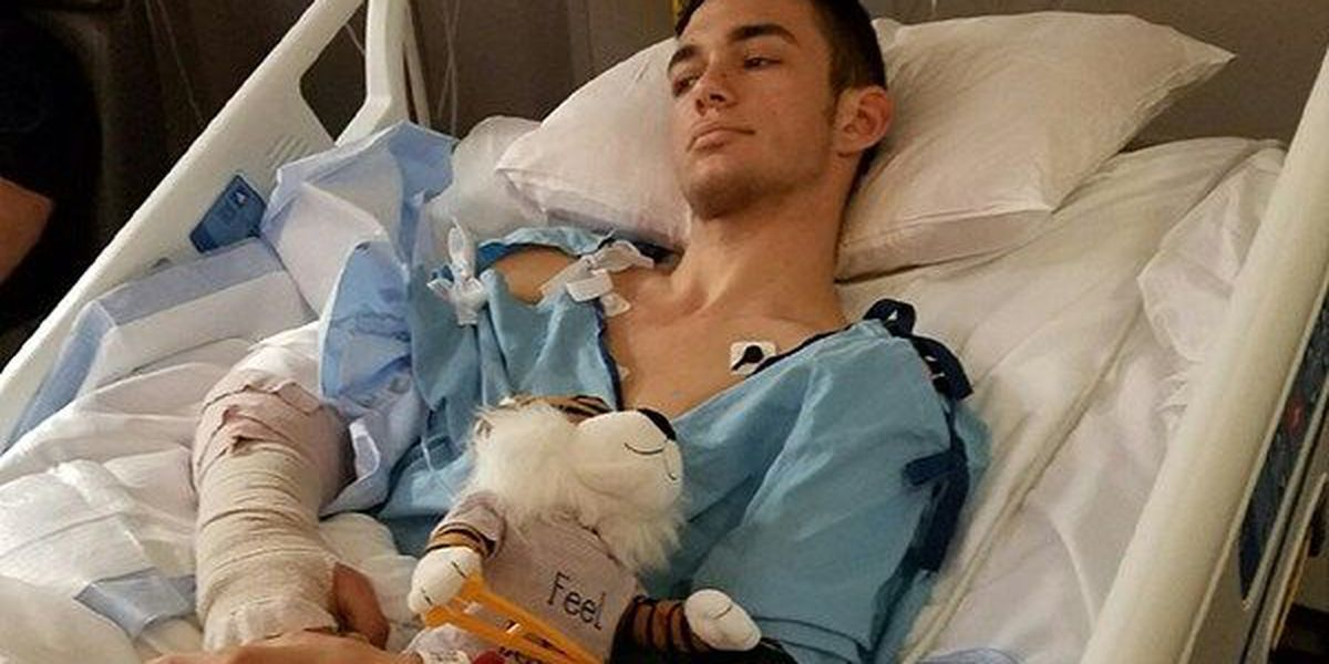 Good Samaritan shot and run over while trying to help injured woman undergoes surgery on arm
