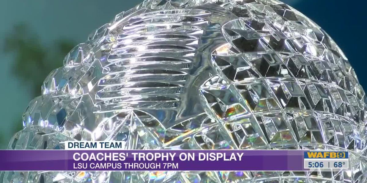 Tiger fans can take a photo with the coaches' trophy