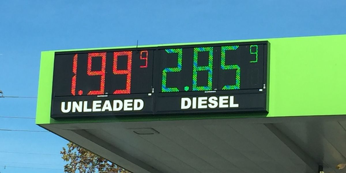 Louisiana gas prices down 30 cents in a month, some areas below $2 a gallon