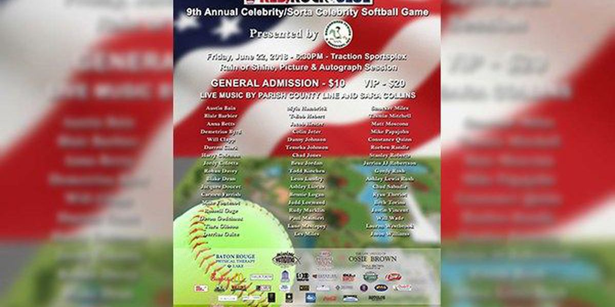 Annual Celebrity/Sorta Celebrity Softball game set for Friday; proceeds benefit military charities