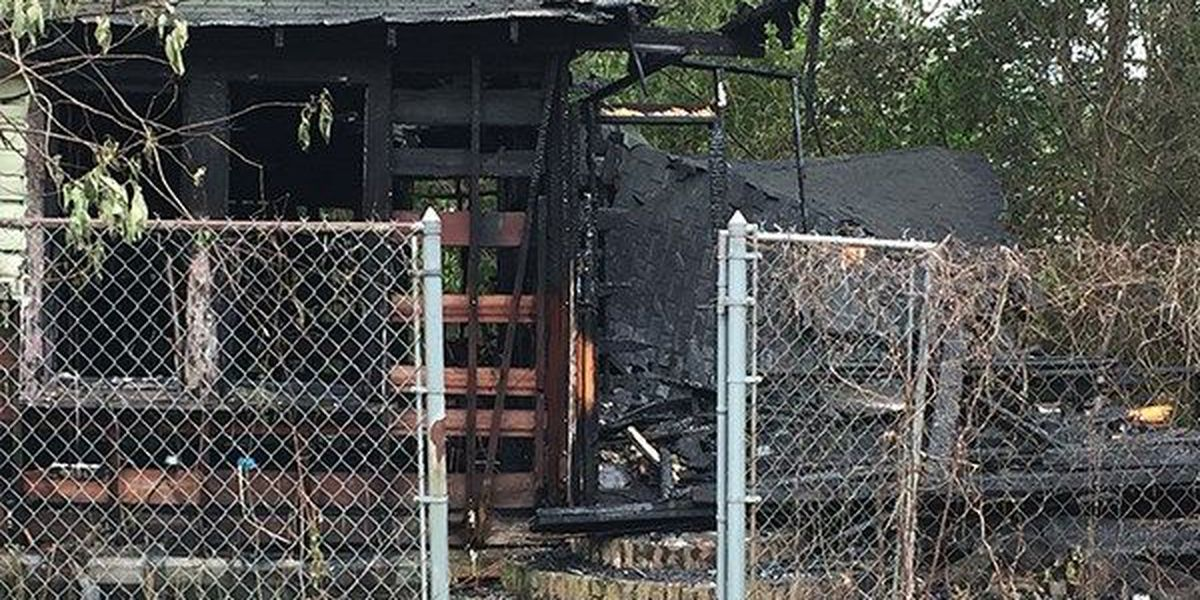 Vacant home completely destroyed in suspected arson