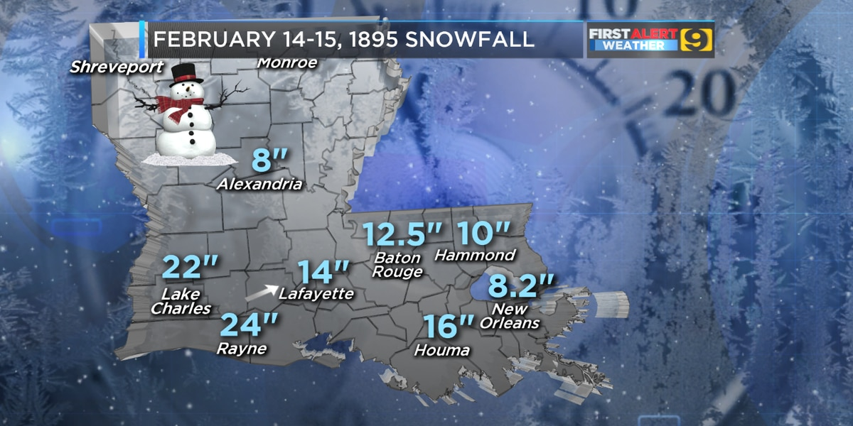 125 years ago, an epic Valentine's Day snowstorm hit the Gulf Coast