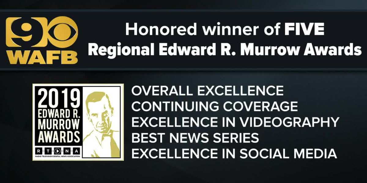 WAFB wins 5 prestigious Regional Edward R. Murrow awards for 2019
