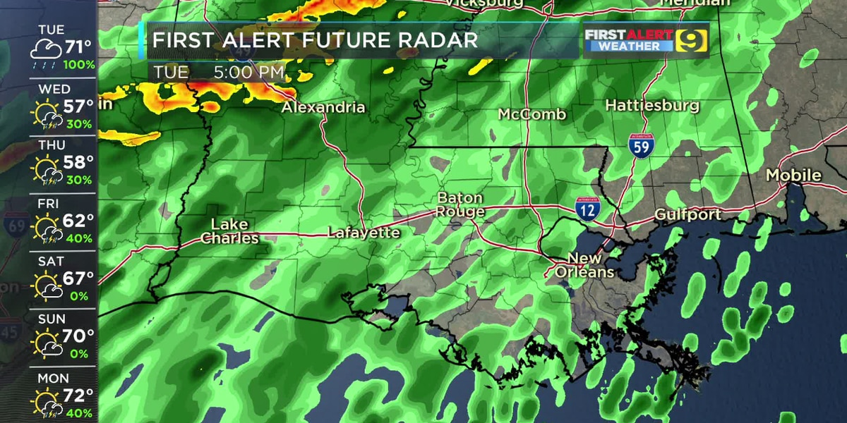 FIRST ALERT FORECAST: Everybody gets rain today