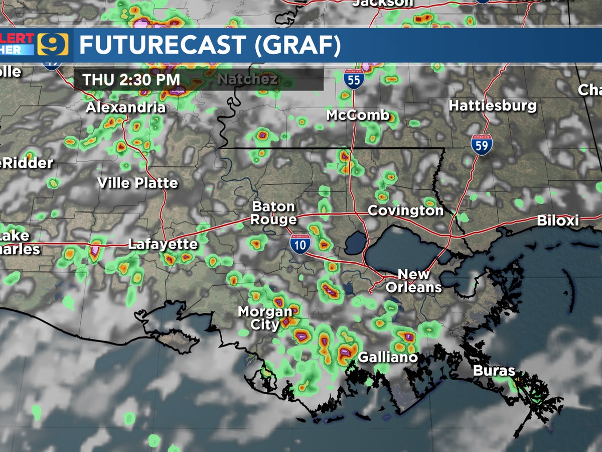 FIRST ALERT FORECAST: Good rain chances Thursday afternoon; roost rings appear on radar