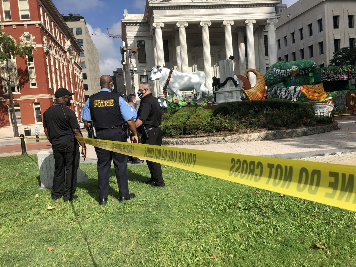3 statues with confederate connections vandalized in New Orleans