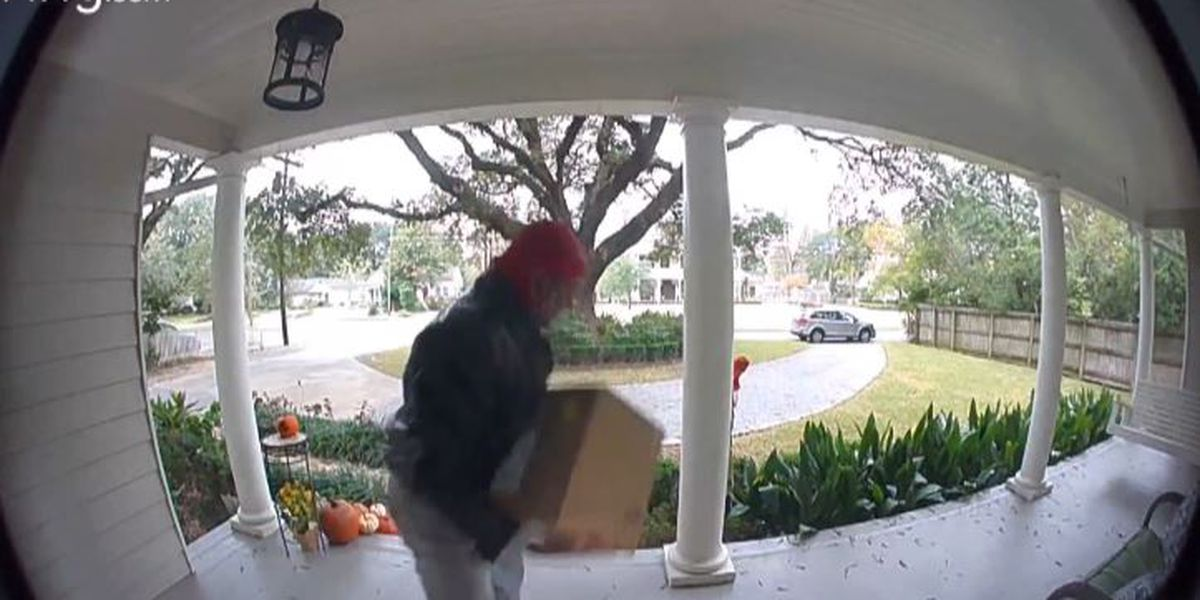 Thief takes package right off woman's front porch in Mid City