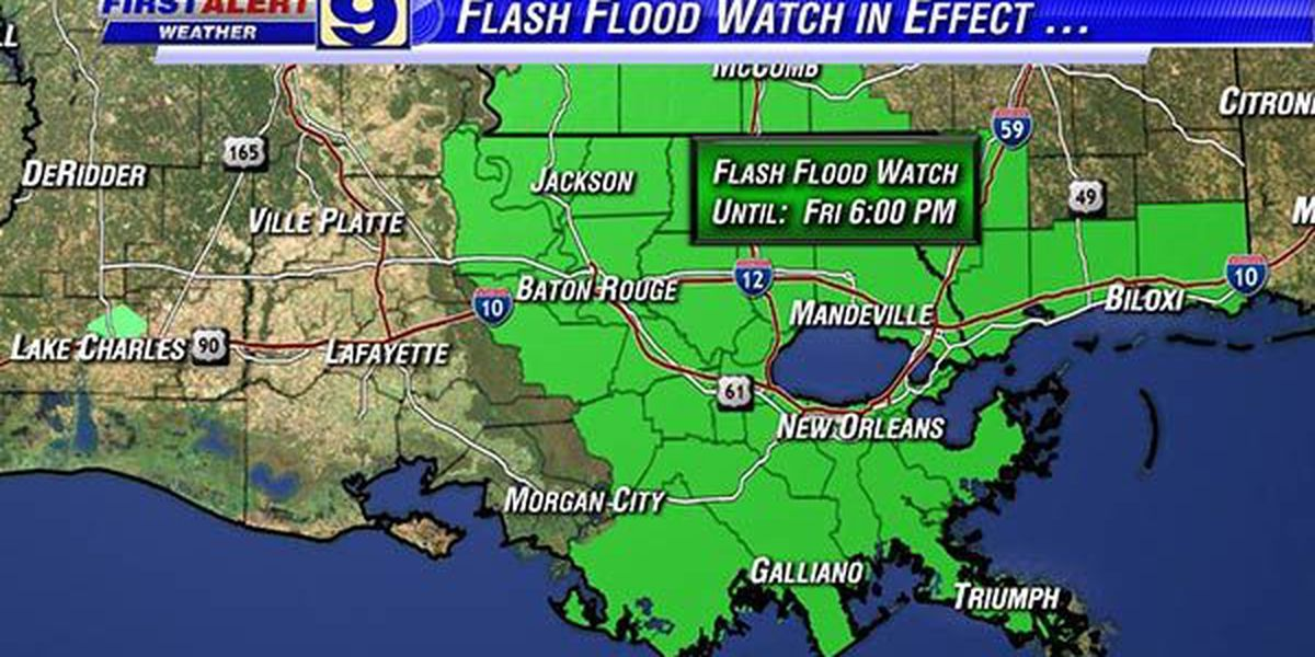 NWS extends flash flood watch to Friday
