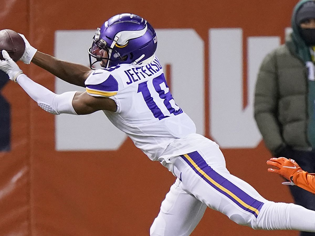 Former LSU WR Justin Jefferson puts up big numbers in Monday Night Football debut