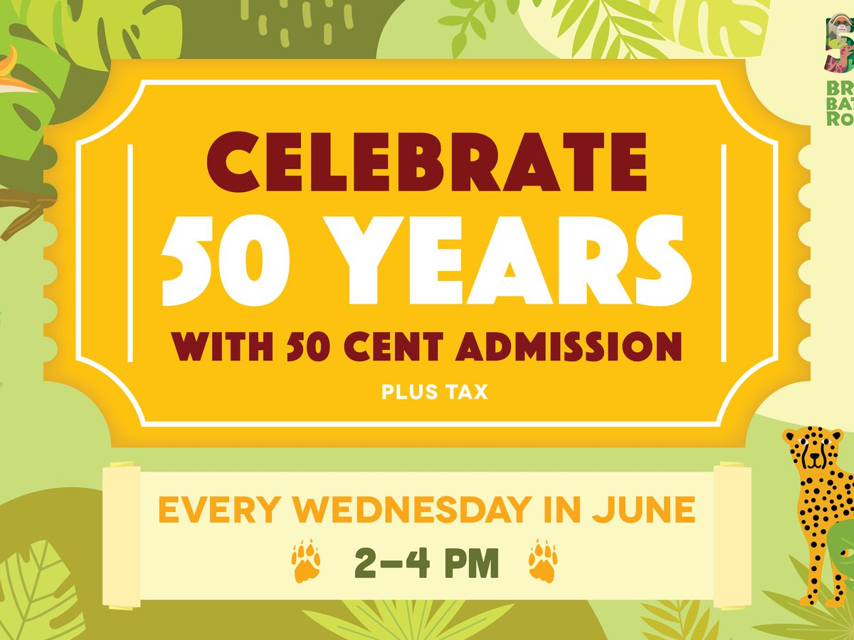 BREC'S Baton Rouge Zoo to celebrate 50th anniversary with 50-cent admission on Wednesday afternoons in June