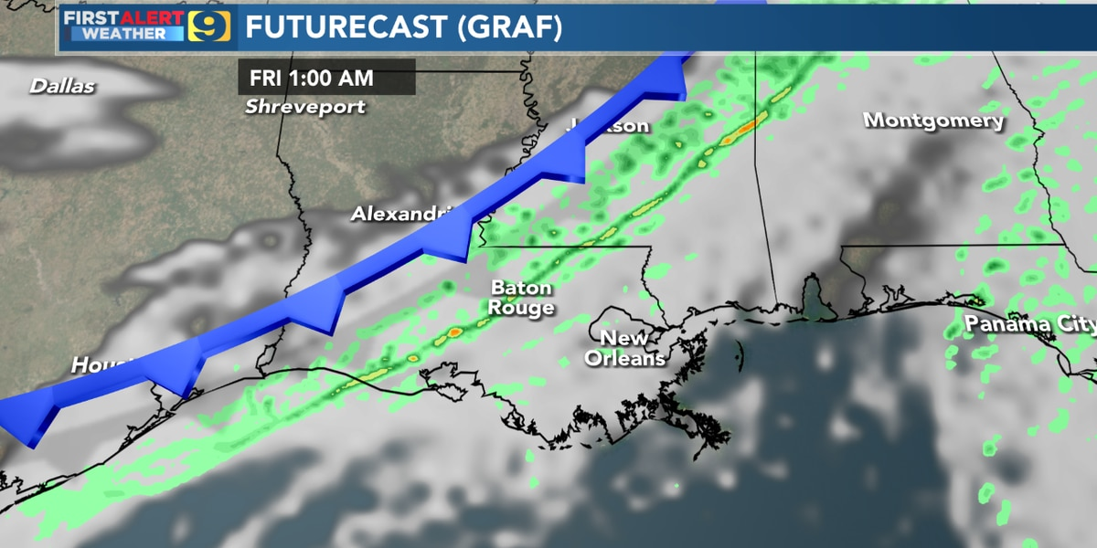 FIRST ALERT FORECAST: Showers expected throughout the day as temperatures struggle to reach the low 50′s