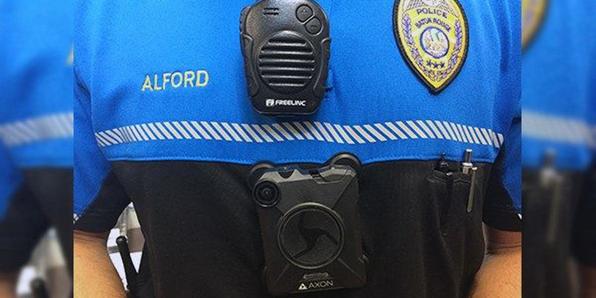 BRPD officers outfitted with new body cameras