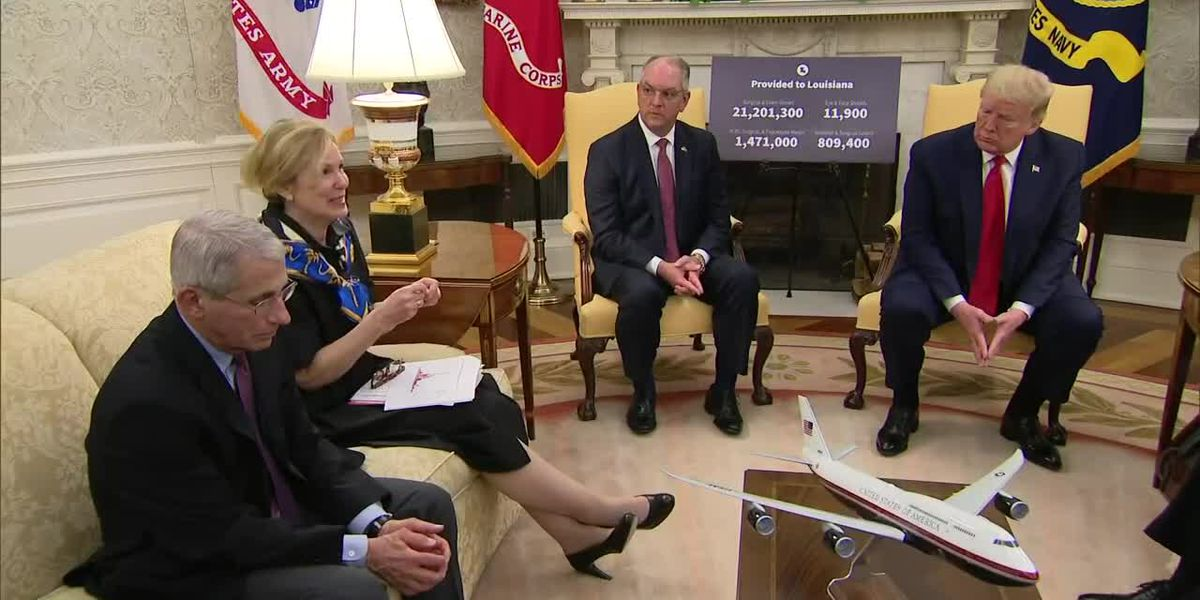 Wed., April 29: Gov. Edwards meets with Pres. Trump, coronavirus task force