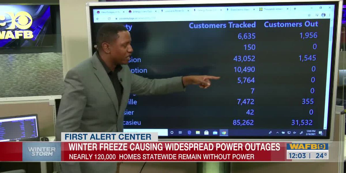 Winter freeze causing widespread power outages