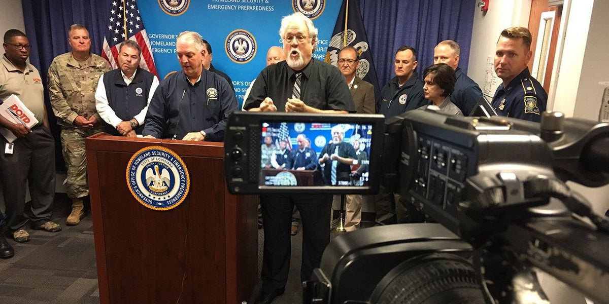 Gov. Edwards holds news conference with latest on Harvey recovery efforts
