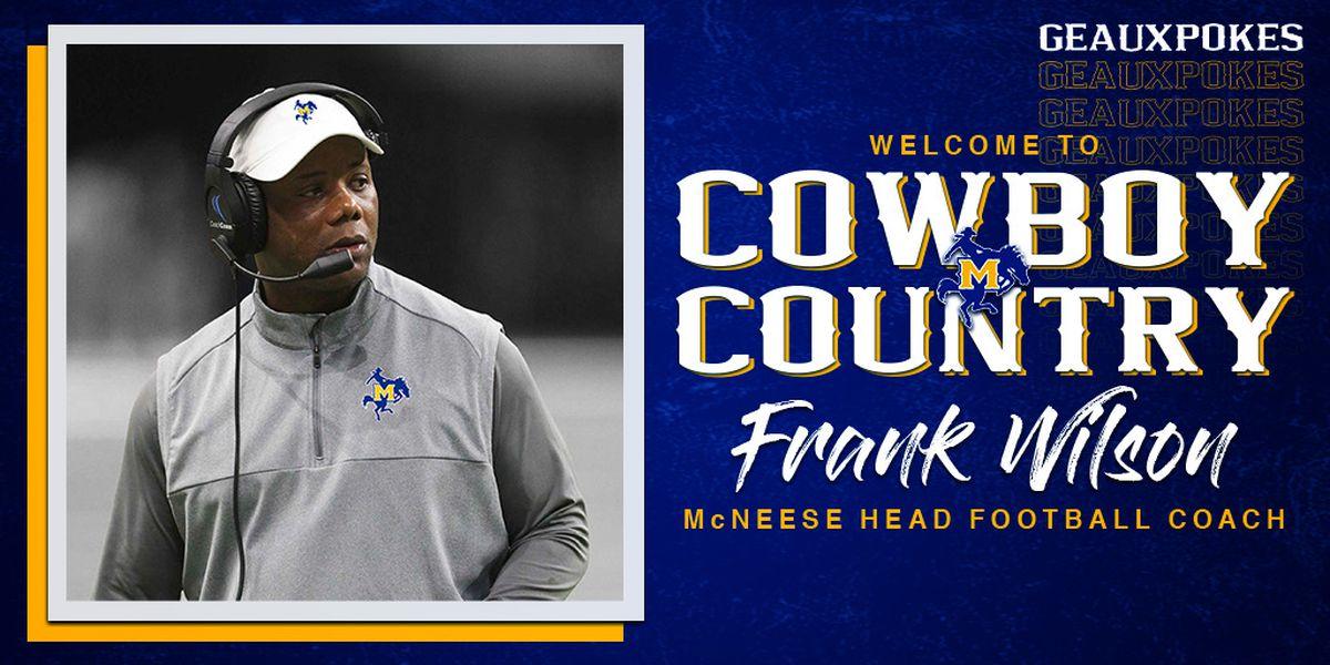 Frank Wilson hired as McNeese head football coach