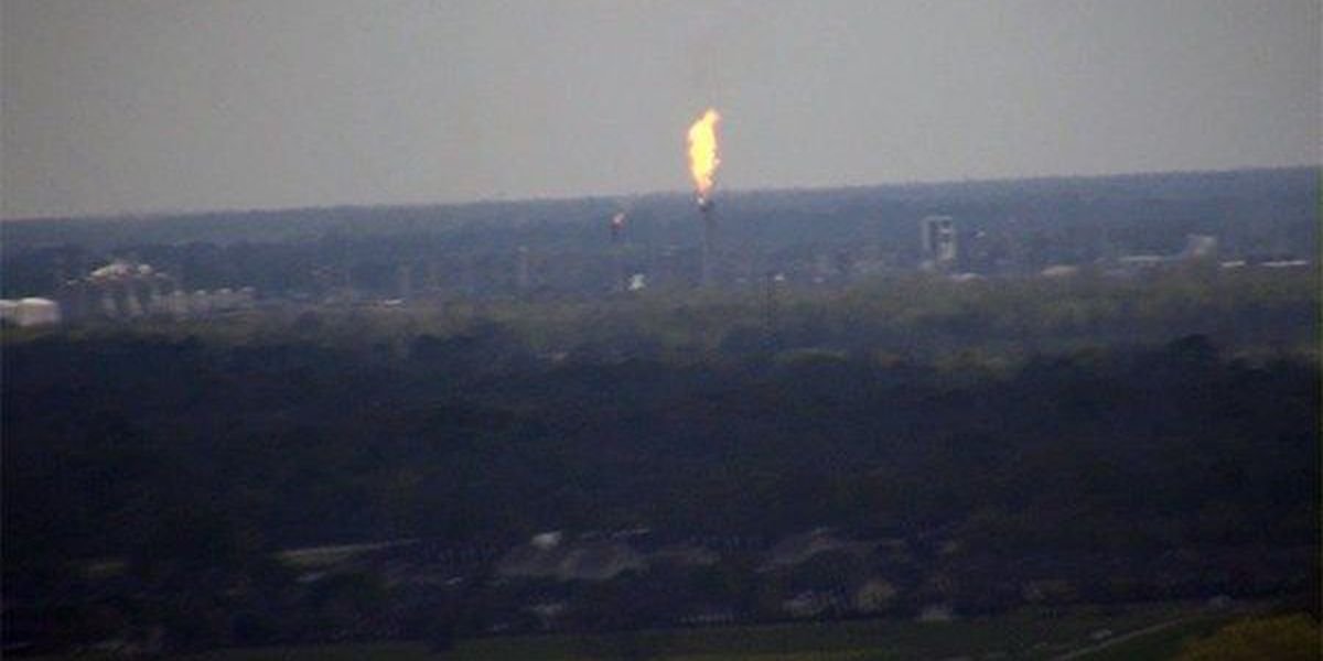 DOW flaring at facility in Plaquemine