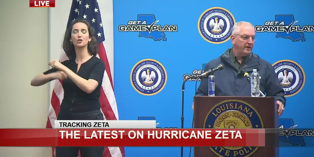 State officials provide update ahead of Hurricane Zeta's impact