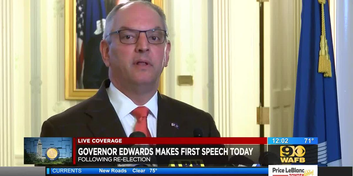 Gov. Edwards addresses state for the first time since being re-elected