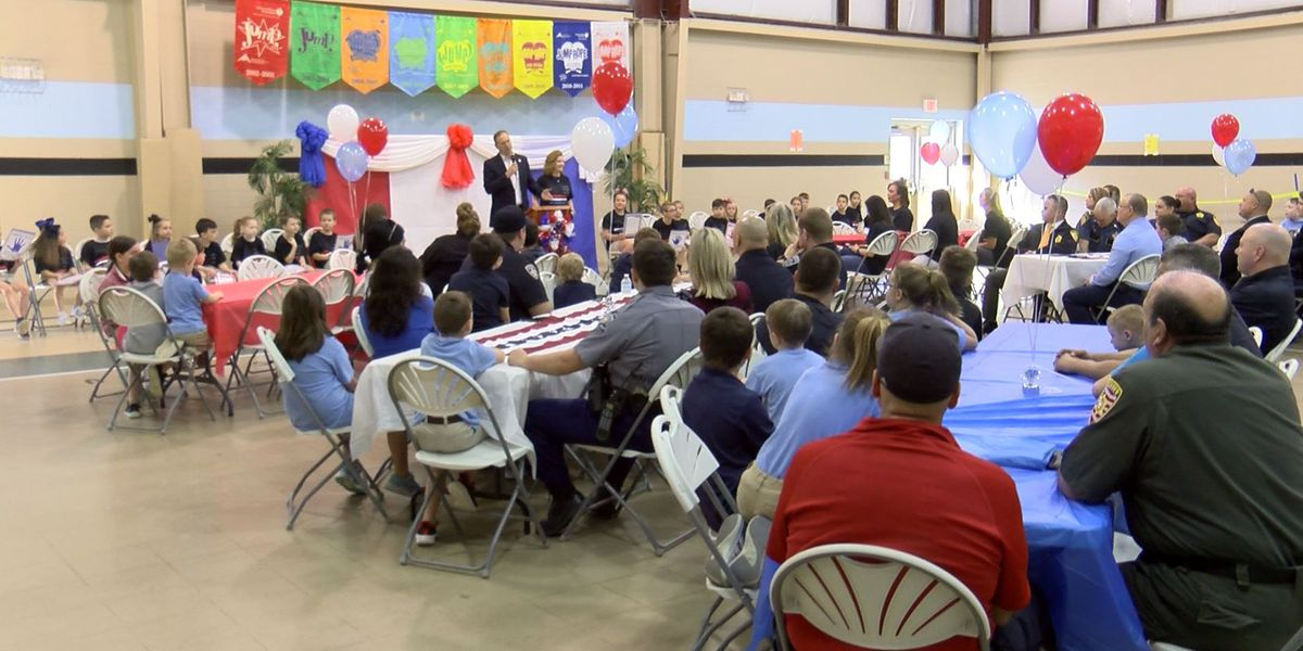 North Corbin Elementary holds special breakfast for law enforcement, first responders