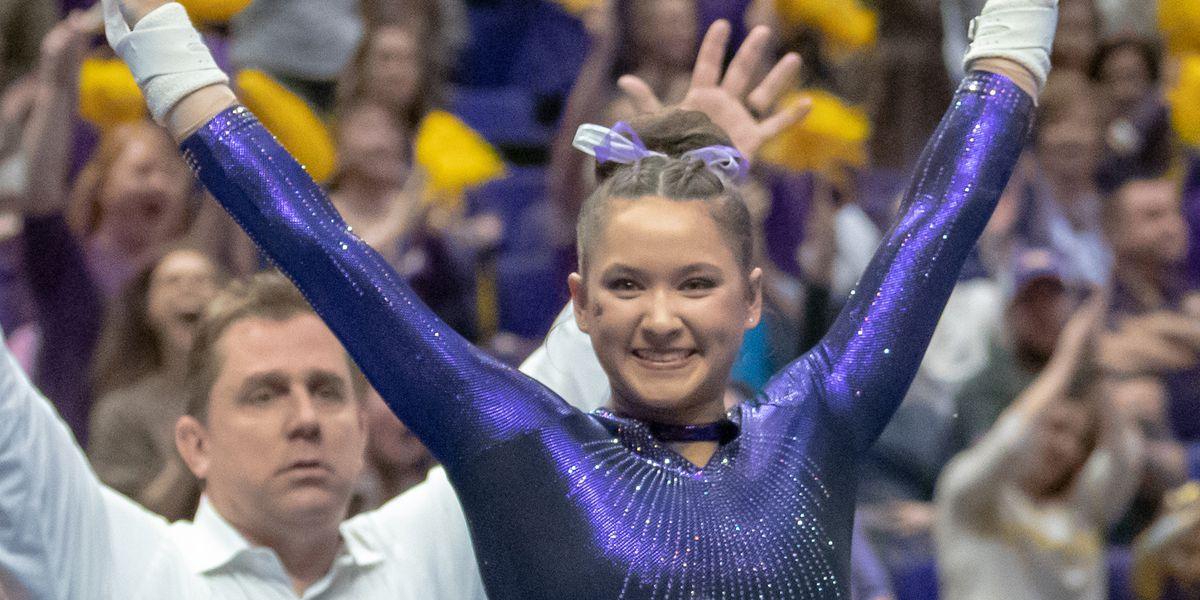 LSU gymnast Sarah Finnegan wins AAI Award
