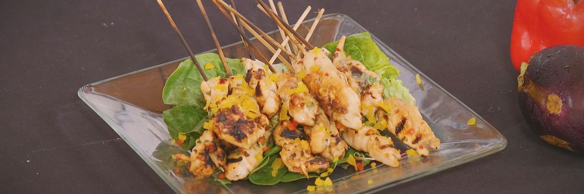 Chick-on-a-Stick with Sweet n' Spicy Orange Marinade