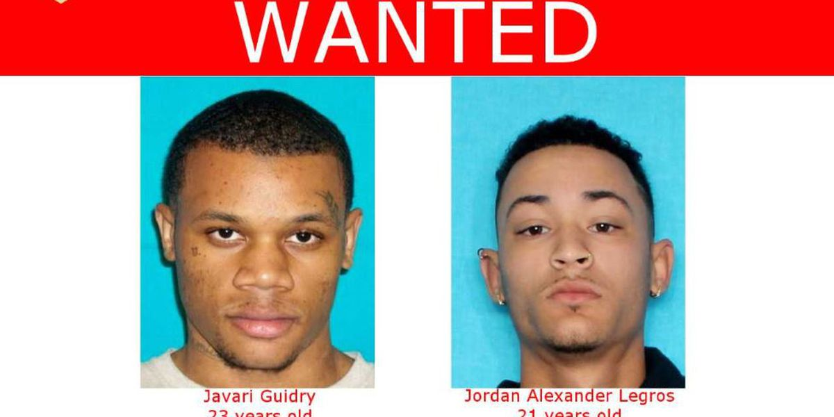 Two wanted in connection with Gotreaux homicide, considered armed and dangerous