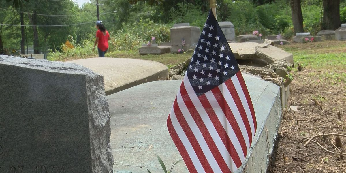 Cemetery cleanup uncovers veteran gravesites for Memorial Day